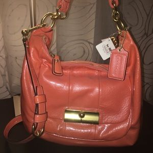 Pink Patent Leather Coach Hobo Purse